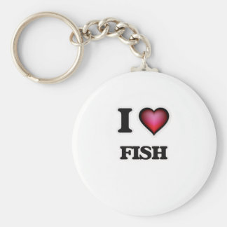 I Love Fish Keychain