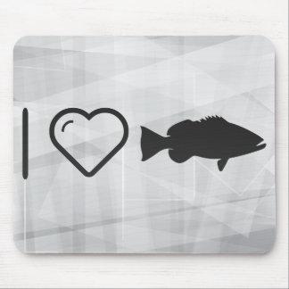 I Love Fish Menus Mouse Pad