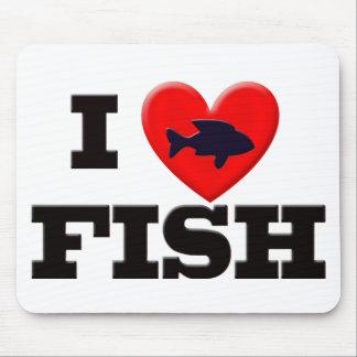 I LOVE FISH MOUSE PAD