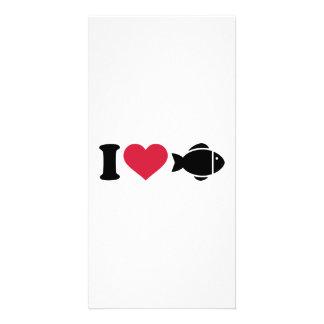 I love Fish Photo Card