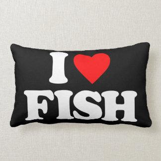 I LOVE FISH THROW PILLOWS