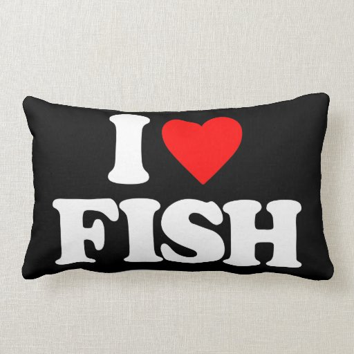 I love fish pillow zazzle for I love the fishes