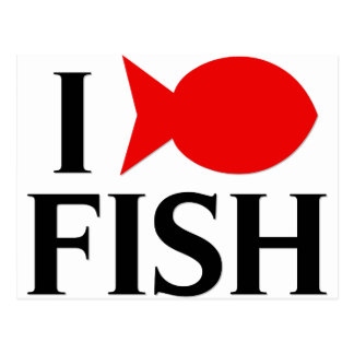 I Love Fish Postcards