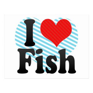 I Love Fish Post Card