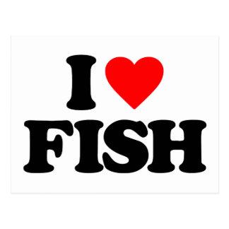 I LOVE FISH POSTCARD