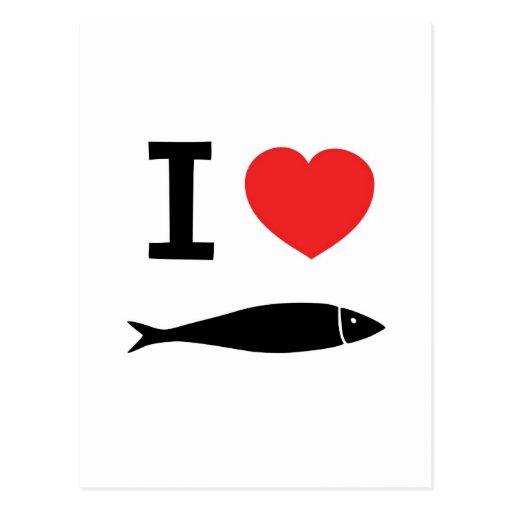 I love fish postcard zazzle for I love the fishes