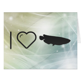 I Love Fish Sauces Large Greeting Card