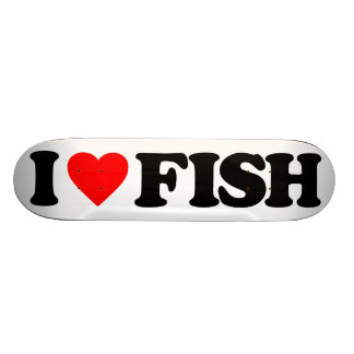 I LOVE FISH SKATEBOARD DECK