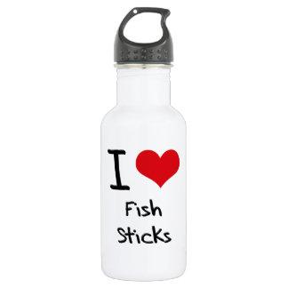 I Love Fish Sticks 18oz Water Bottle