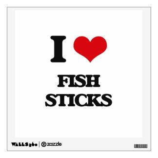 i LOVE fISH sTICKS Room Sticker