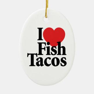 I Love Fish Tacos Christmas Ornament