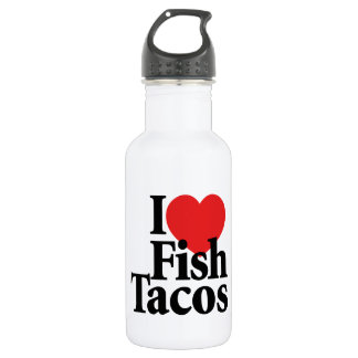 I Love Fish Tacos Stainless Steel Water Bottle