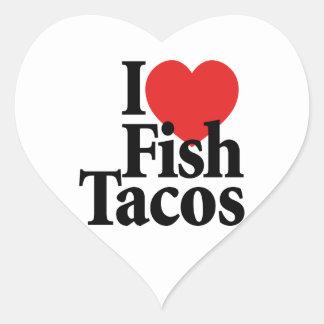 I Love Fish Tacos Heart Sticker