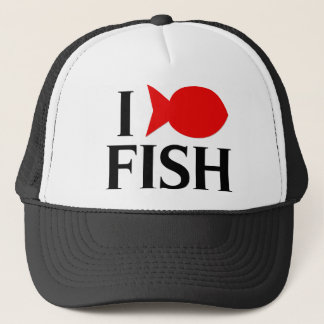 I Love Fish Trucker Hat