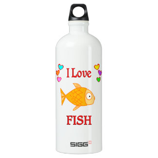 I Love Fish Water Bottle