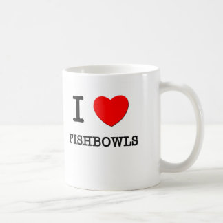 I Love Fishbowls Classic White Coffee Mug
