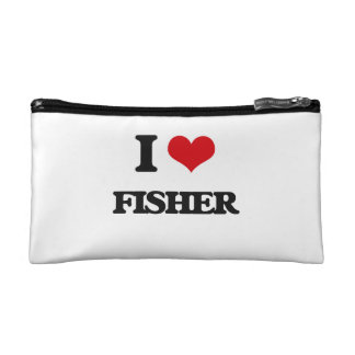 I Love Fisher Cosmetic Bag