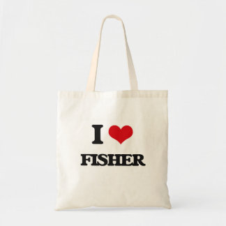 I Love Fisher Budget Tote Bag