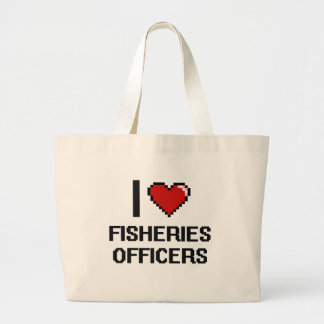 I love Fisheries Officers Jumbo Tote Bag