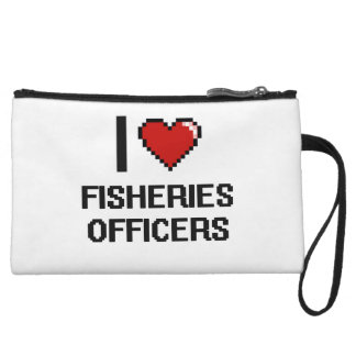 I love Fisheries Officers Wristlet Clutch