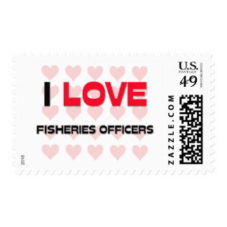 I LOVE FISHERIES OFFICERS POSTAGE STAMPS