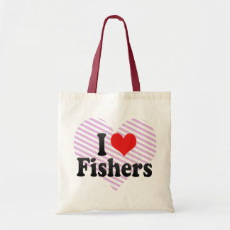 I Love Fishers Canvas Bags