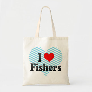 I Love Fishers, United States Canvas Bags