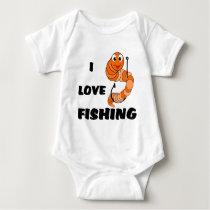 I Love Fishing Baby Bodysuit
