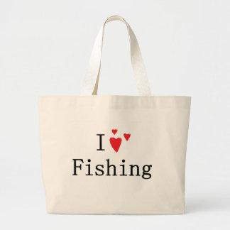 I Love Fishing Jumbo Tote Bag