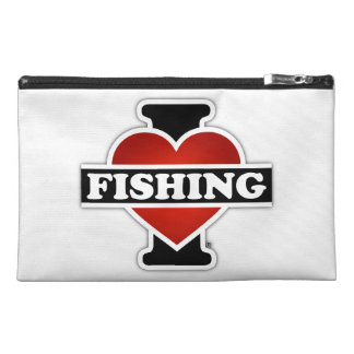 I Love Fishing Travel Accessories Bag