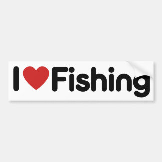 I Love Fishing Bumper Sticker