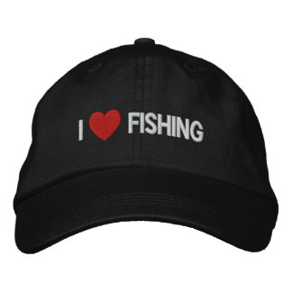 I Love Fishing Embroidered Hat