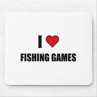 I love Fishing games Mousepads