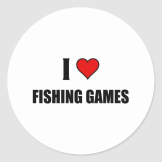 I love Fishing games Stickers