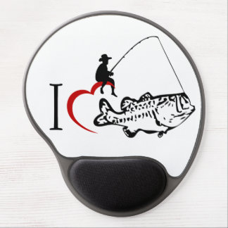 I love fishing gel mousepad
