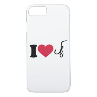 I love fishing hook iPhone 8/7 case