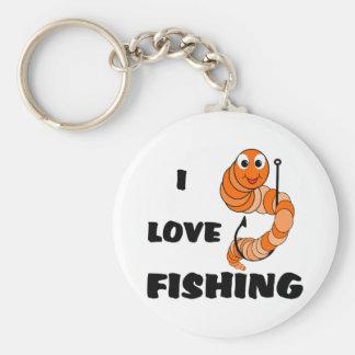 I Love Fishing Key Chains