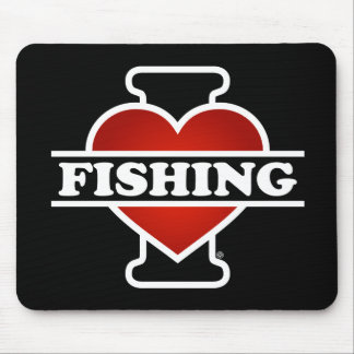 I Love Fishing Mouse Pad