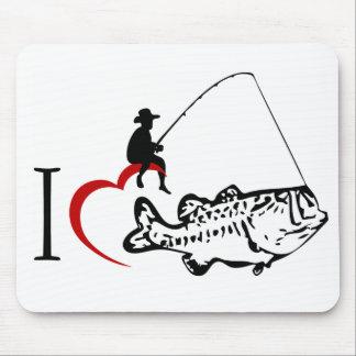 I love fishing mousepad