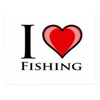 I Love Fishing Postcard