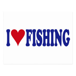 I Love Fishing Postcard