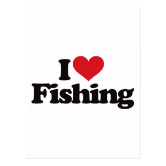 I Love Fishing Post Cards