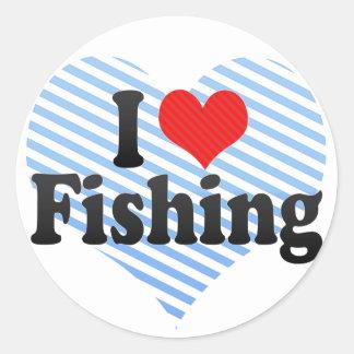 I Love Fishing Sticker