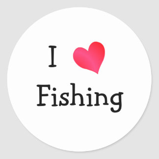 I Love Fishing Classic Round Sticker