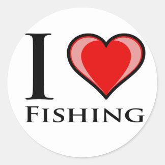 I Love Fishing Stickers