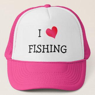 I Love Fishing Trucker Hat