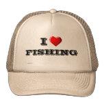 I Love FISHING Trucker Hats