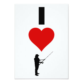 I Love Fishing (Vertical) Card