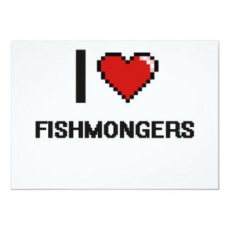 I love Fishmongers 5x7 Paper Invitation Card