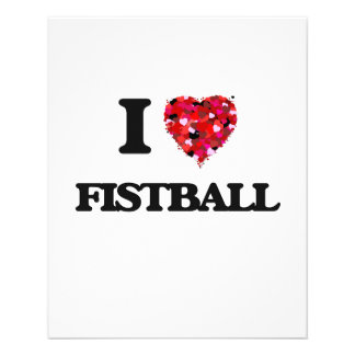 "I Love Fistball 4.5"" X 5.6"" Flyer"